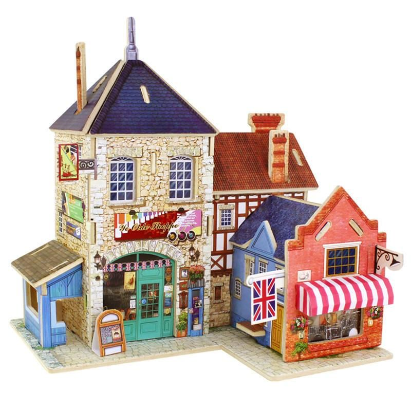 Creative 3d Wooden Puzzle Ship Kids Tridimensional Cabins Kids Building Assemble Toys Unique Present For Children Building & Construction Toys