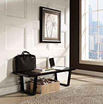 Awe Inspiring George Nelson Style 4 Platform Bench With Black Finish Gmtry Best Dining Table And Chair Ideas Images Gmtryco
