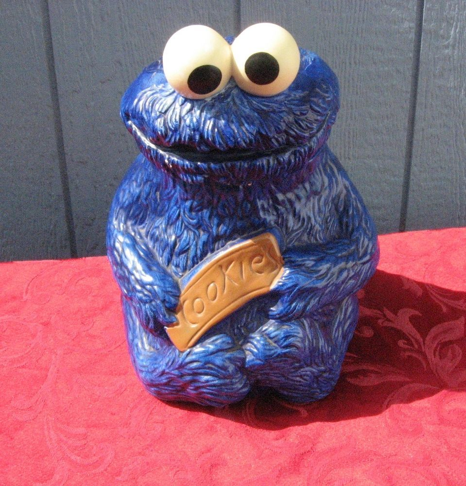 Vintage 1970 Cookie Monster Ceramic Cookie Jar Sesame Street Muppets Inc 970 Ceramic Cookie Jar Monster Cookies Sesame Street Muppets
