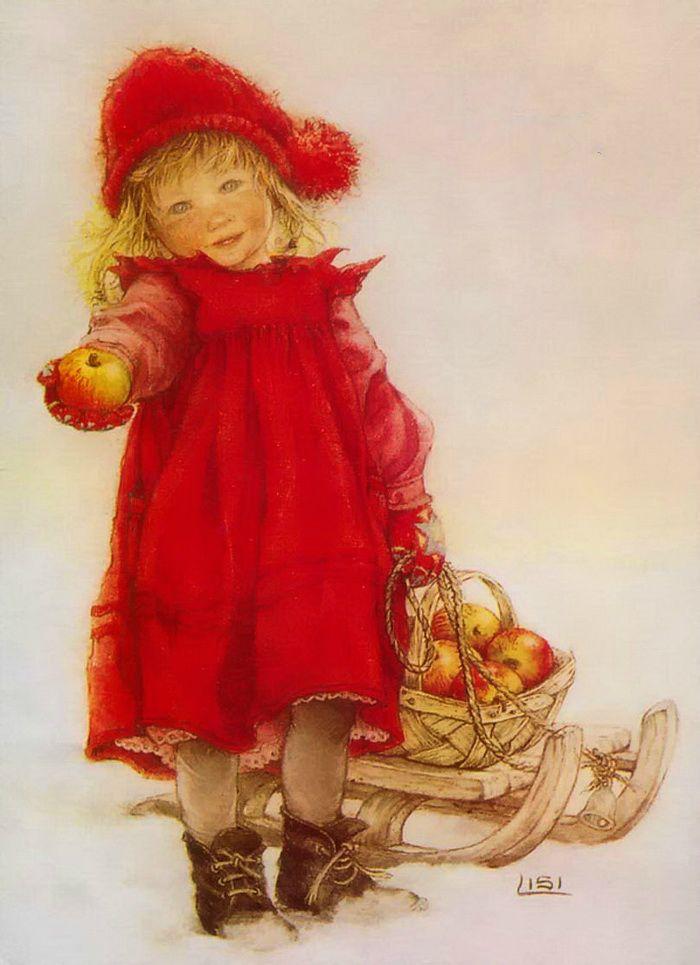 Руками, девочка с подарками открытки