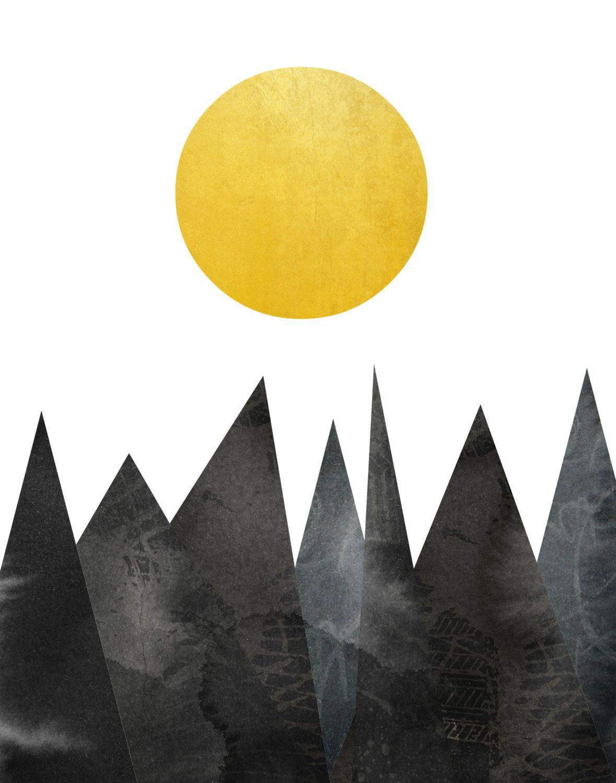 Geometric Wall Art Triangle Print Printable Art by exileprints