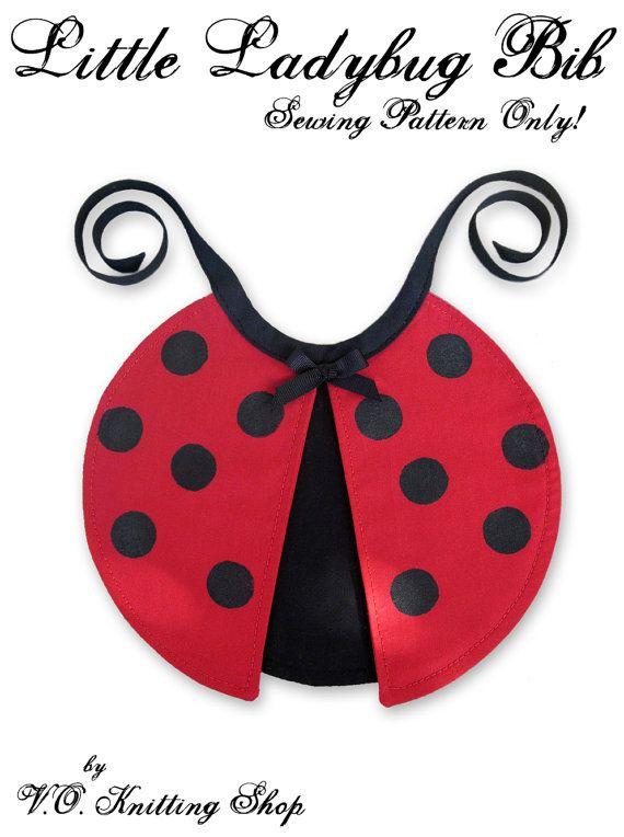 SEWING PATTERN ONLY Little Ladybug Bib Infant por voknittingshop, $5 ...