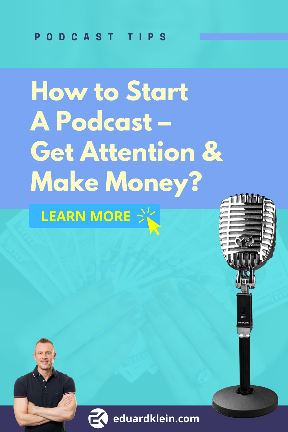 How To Start A Podcast Get Attention Make Money Podcasts Tips How To Podcast Starting A Podcast Podcasts Podcast Topics