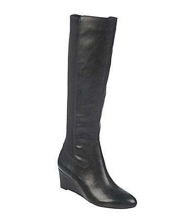 Naturalizer Quinlee Stretch Wedge Boots #Dillards