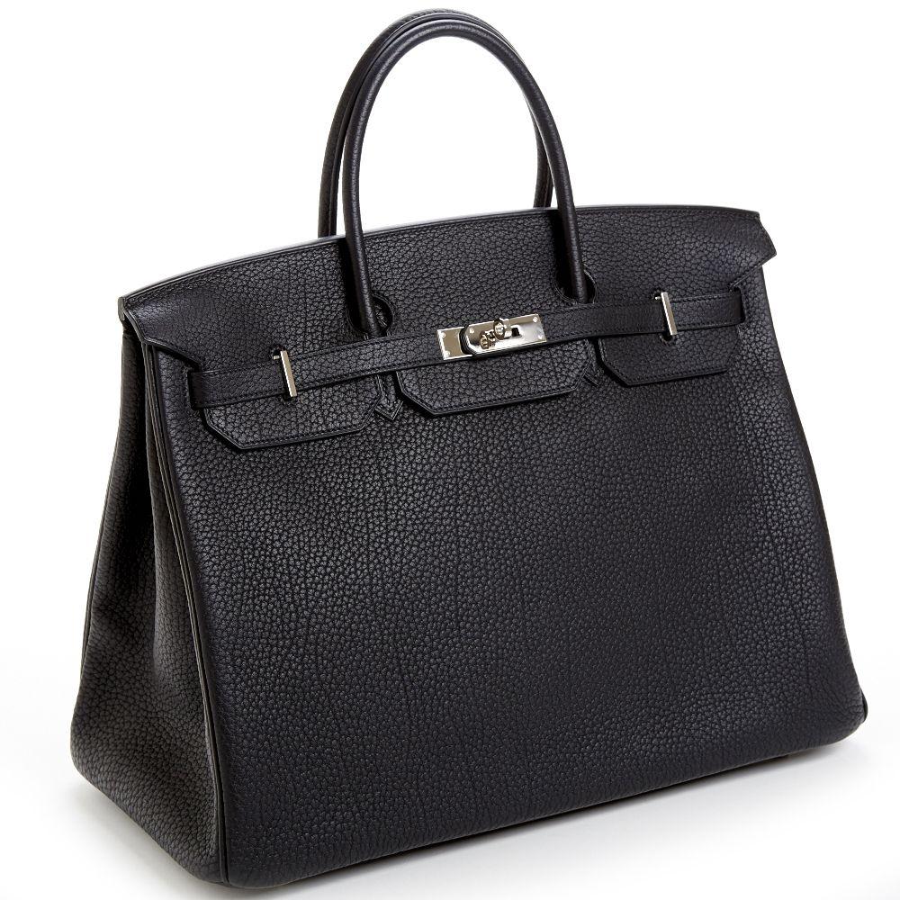 ef6a3a115a86 Hermes Birkin nera 35cm replica perfetta in autentica pelle Togo.Disponiamo  anche di borse Hermes Birkin in autentica pelle Clemence e box.