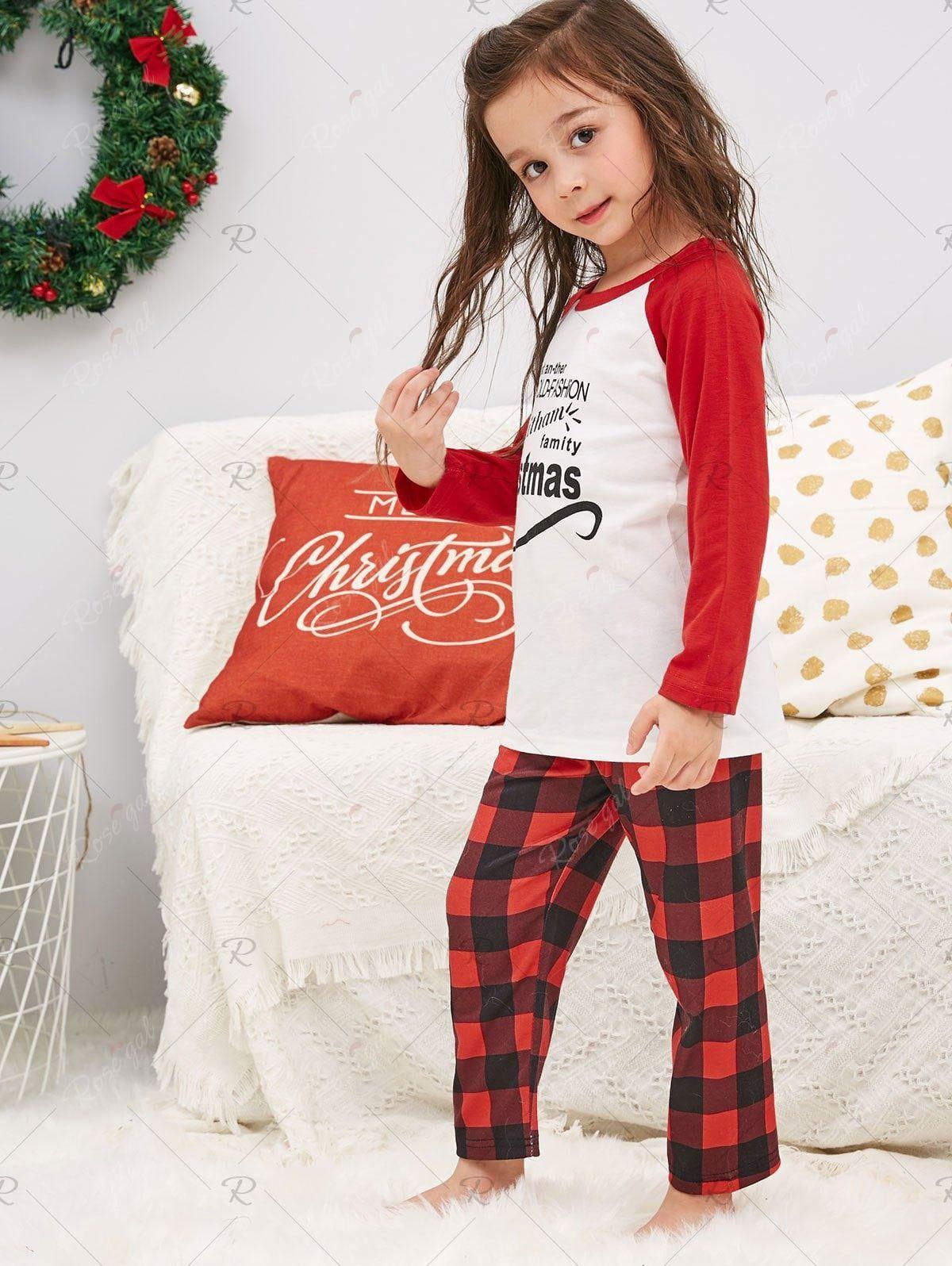 Christmas Letter Print Family Pajamas Affiliate Letter
