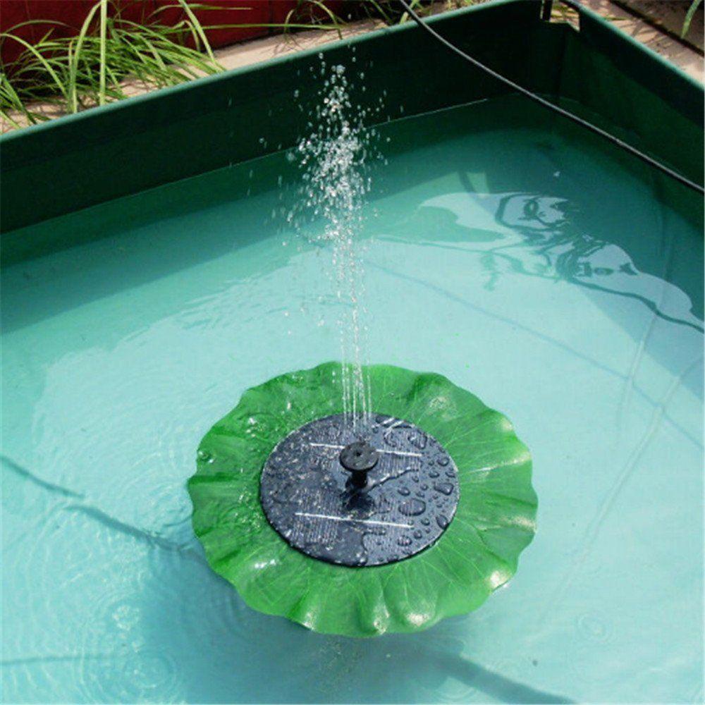 bomba de agua para fuentes de luz solar flotantes diseo de hoja de flor estanque