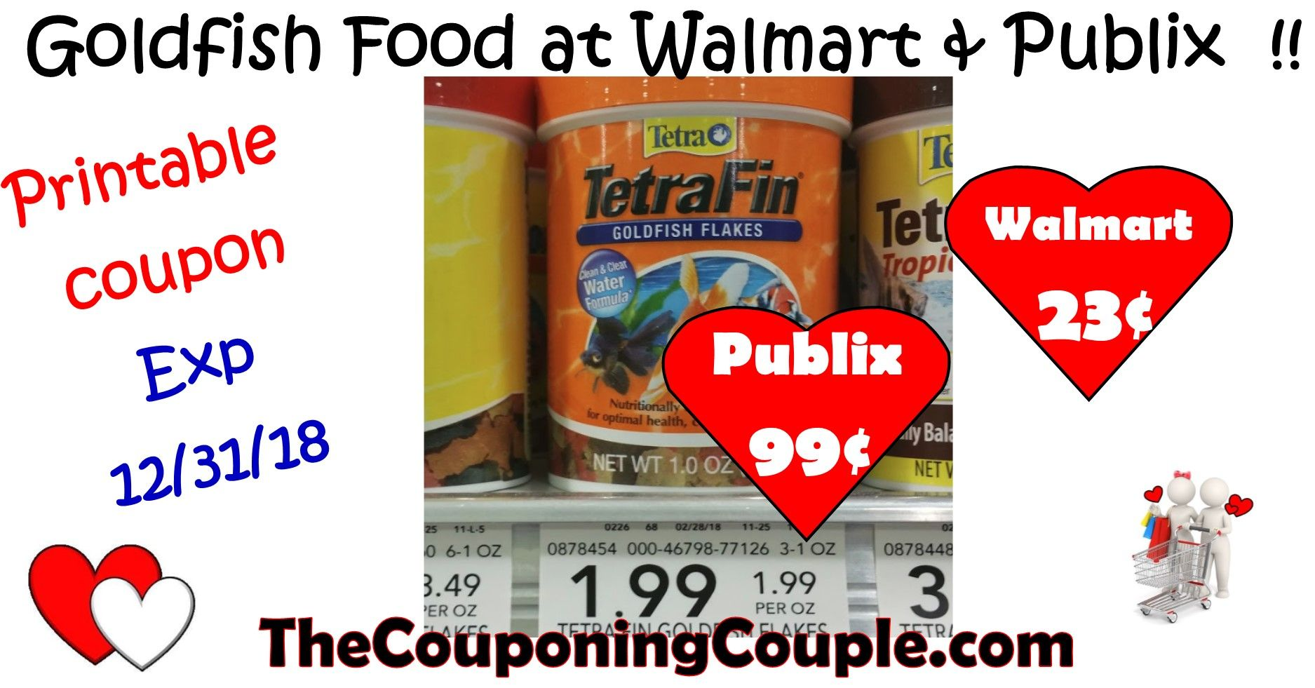 graphic relating to Goldfish Printable Coupons identify Printable Coupon + Tetra Goldfish Food stuff package deal at Publix or