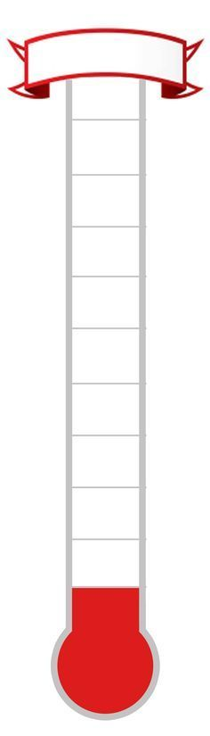 Printable Fundraising Thermometer Blank Thermometer Template - thermometer template