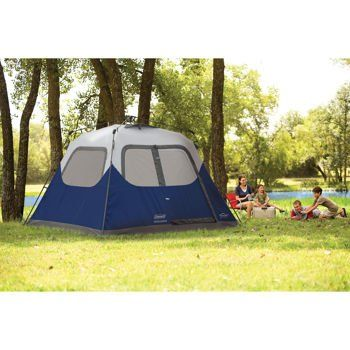 Incroyable Coleman 6 Person Family Camping Instant Cabin Tent W WeatherTec 10 X 9