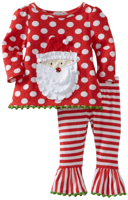 Mud Pie Baby Girls I Love Santa Tights