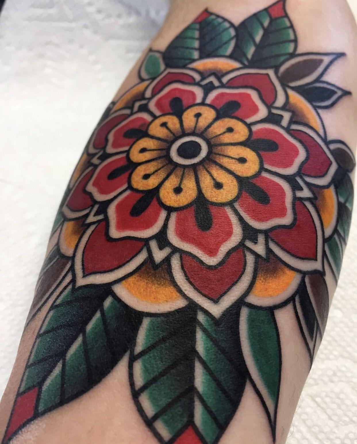 Made to last in charlotte nc traditional mandala tattoo