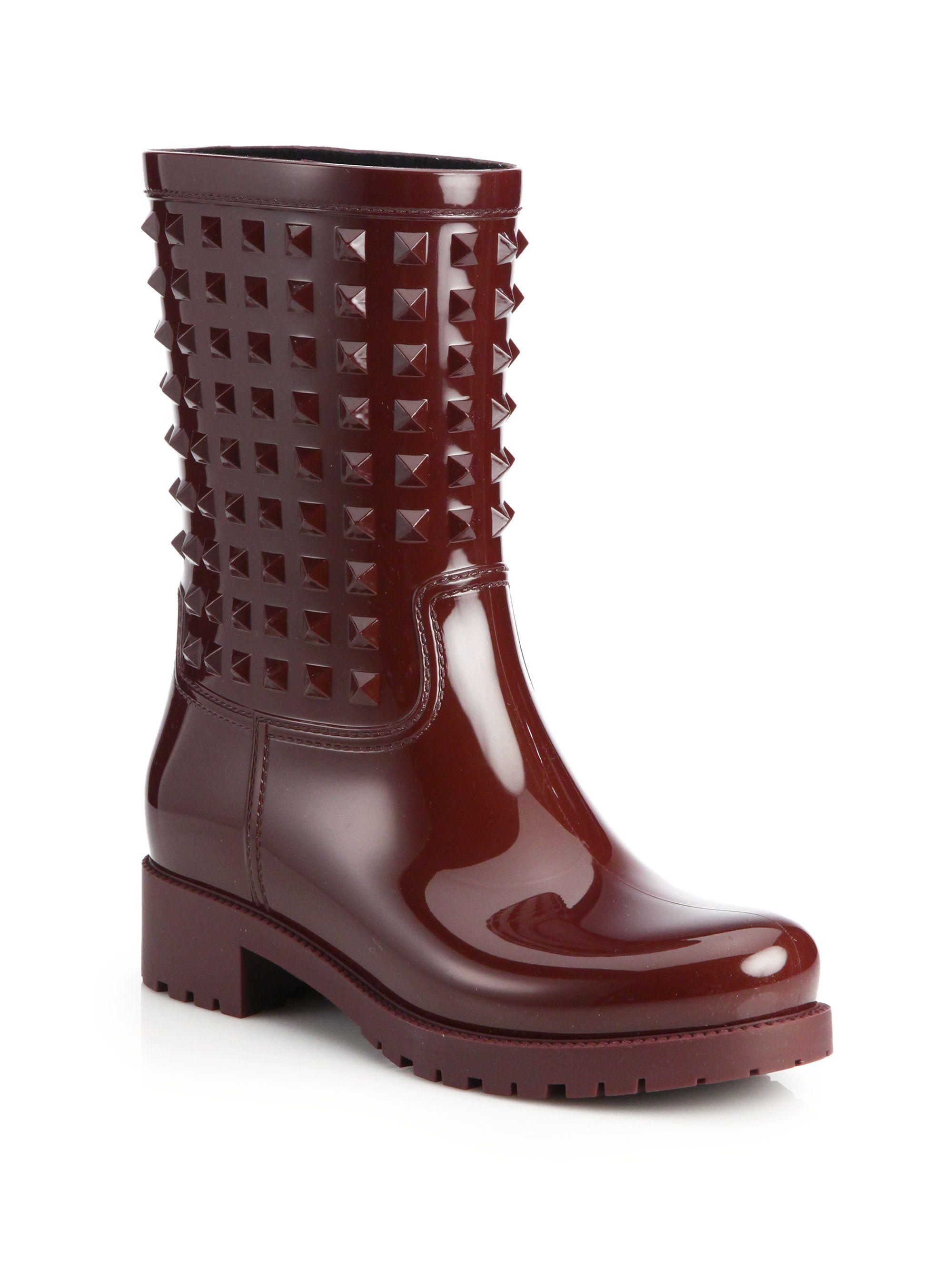 Valentino Rockstud Rain Ankle Boots perfect cheap price 3m1ZLX