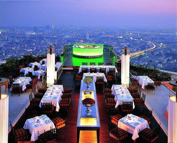 Awesome Restaurant Bar The Baiyoke Sky Hotel In Bangkok Thailand