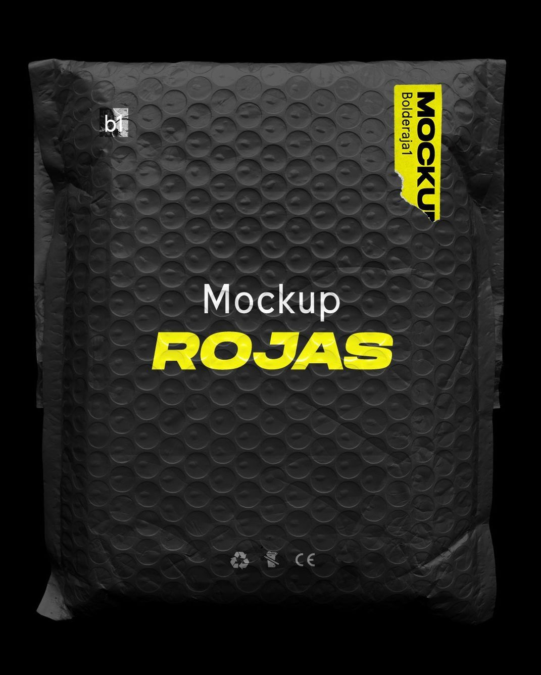 Download free graphic resources for mail bag mockup. Bubble Bag Postage Mockup Rojas Plastic Packaging Design Book Design Layout Graphic Design Mockup