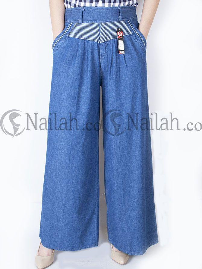 Kulot Semi Jeans Hias Ban Pinggang Pinggang Karet Belakang Harga Rp 105 000 Order Hp 081315351727 Bb 748a8c99 Celana Celana Kulot Legging