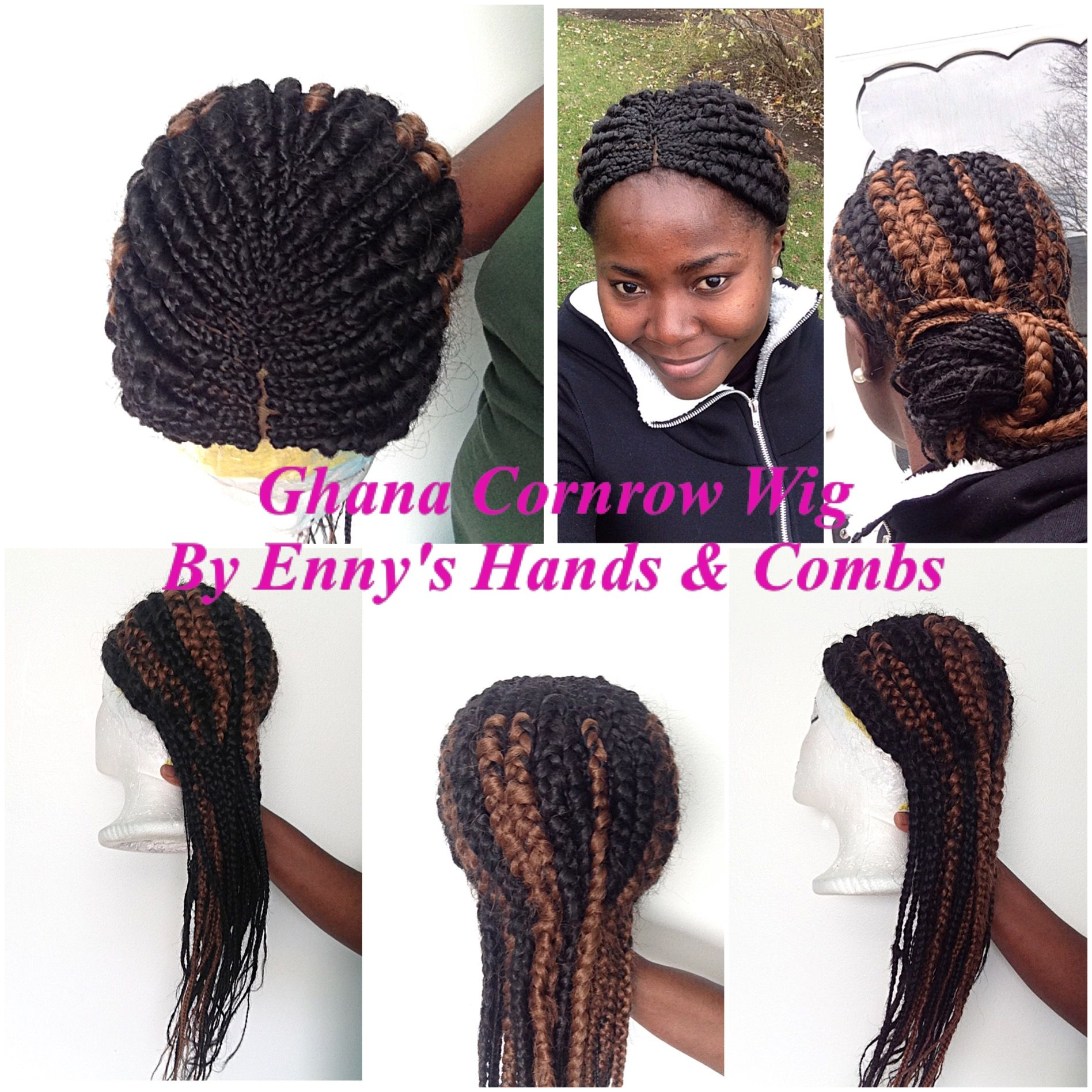 Ghana Braid Cornrow Wig By Enny S Hands Combs Ghana Braids Wigs Braids