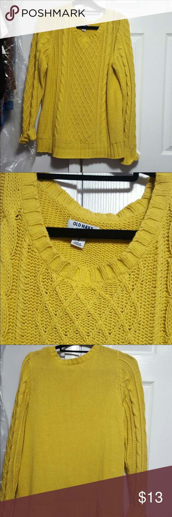 Old navy mustard yellow sweater Very warm and comfortable. Has ...