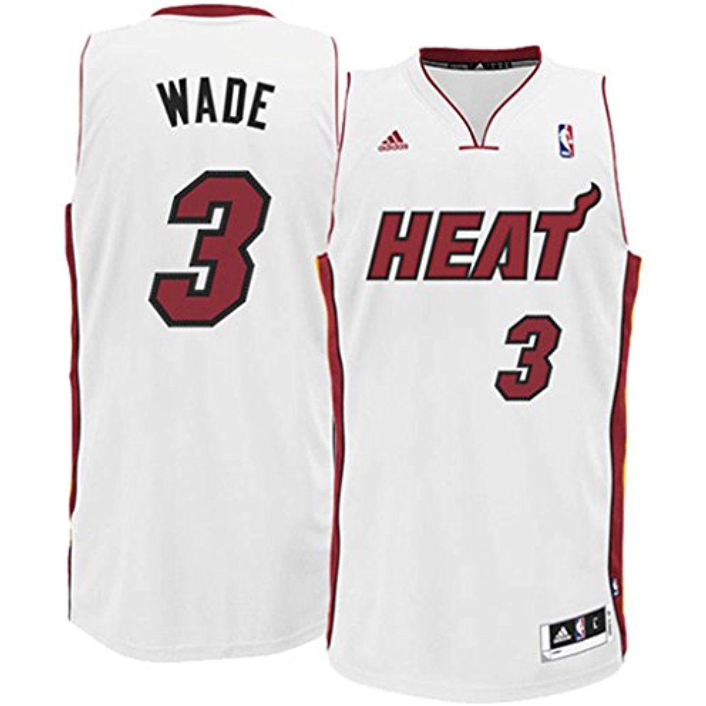 78bc4bde2a3 Mens Miami Heat Dwyane Wade adidas White Swingman Home Jersey. Dwayne Wade  Miami Heat #Shirts