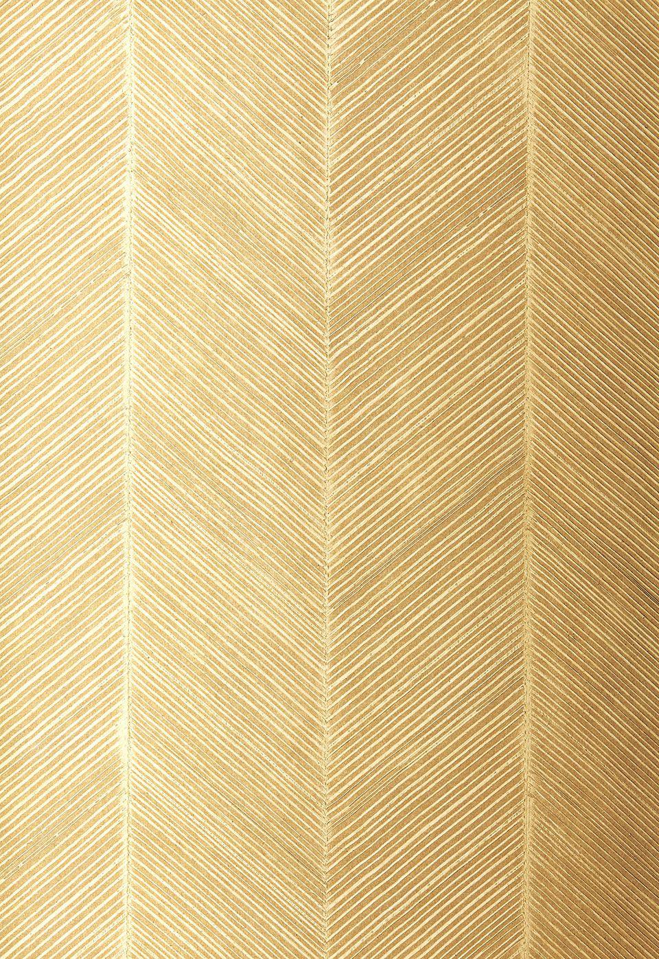 Gold Textured Stripe Herringbone Wallpaper Herringbone