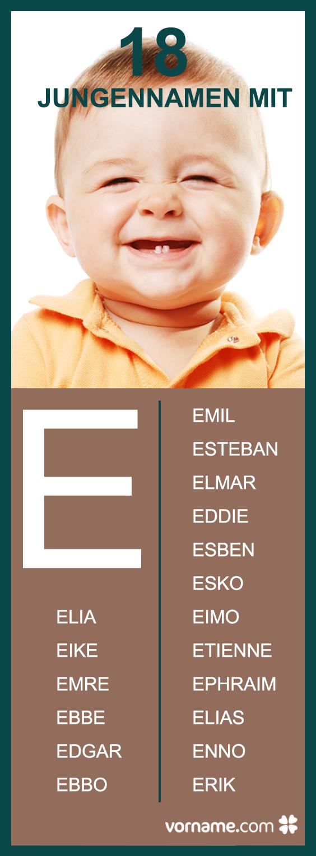 Jungennamen Mit E