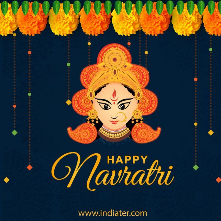 happy-navratri-creative-free-vector-download #navratriwishes