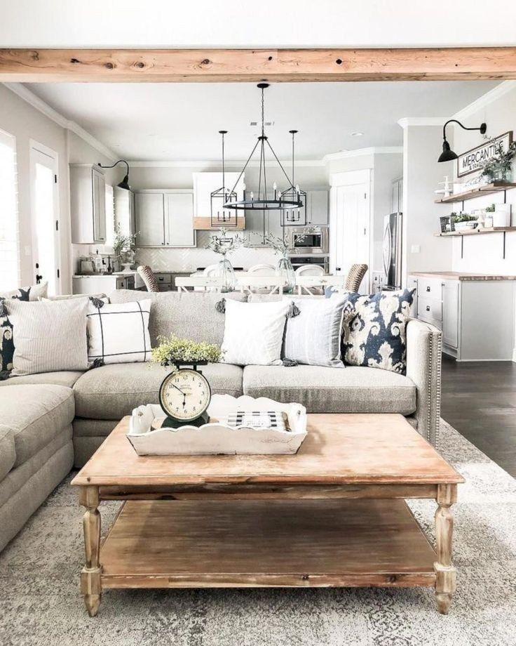 56 Incredible Rustic Kitchen Ideas Photos: 60 Farmhouse Living Room Joanna Gaines Magnolia Homes