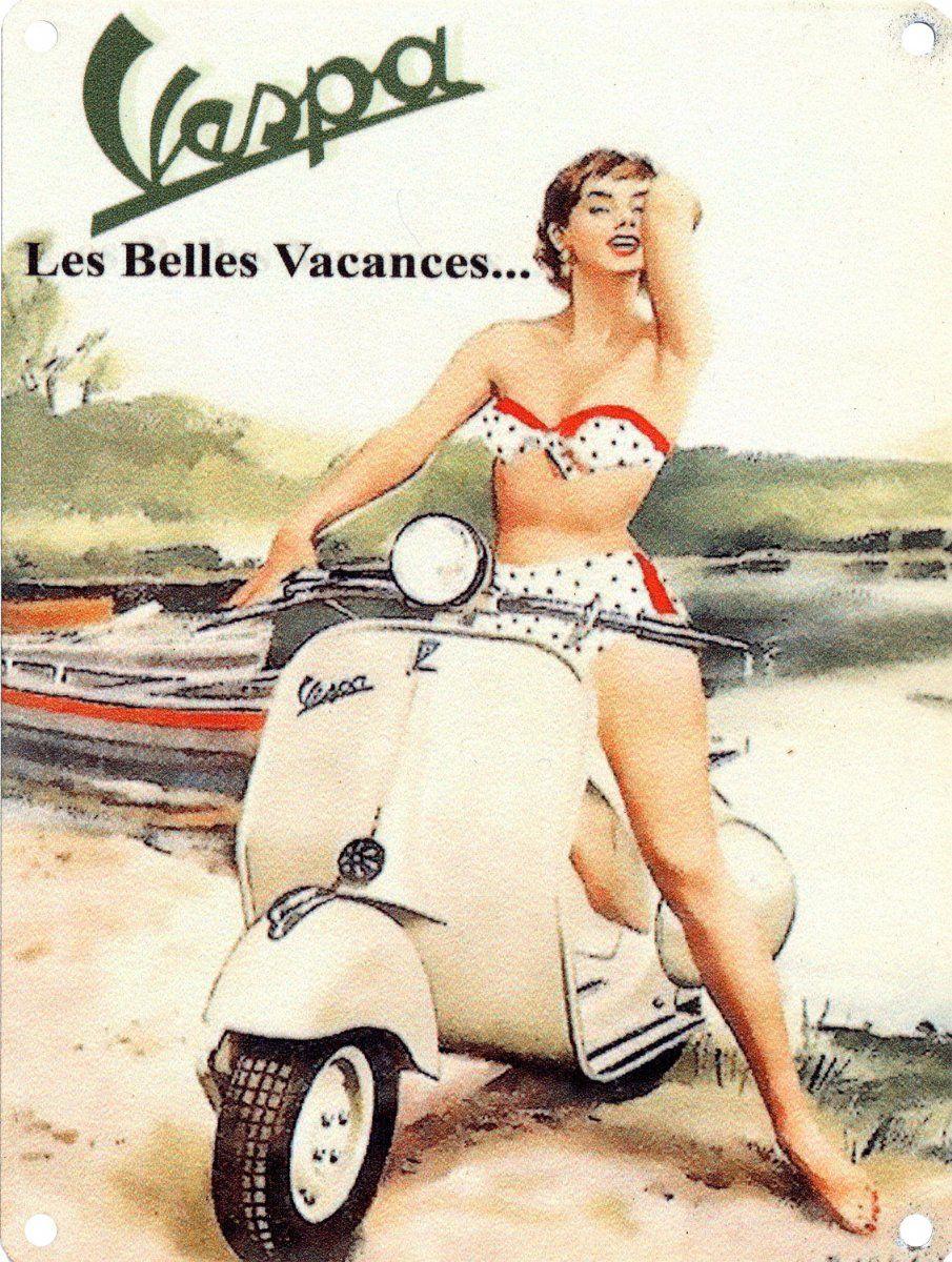Vintage bathroom ads - Vespa