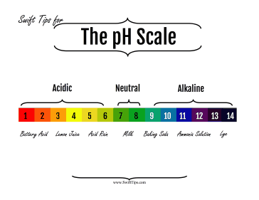 The Scale Of Acids And Bases On The Ph Scale Is Provided With This