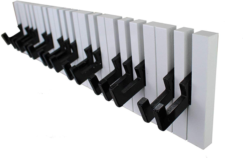 Amazon De Gmmh Design Klavier Wandgarderobe Kleiderhaken Hakenleiste 16 Haken Garderobe Piano Wandgarderobe Hakenleiste Kleiderhaken