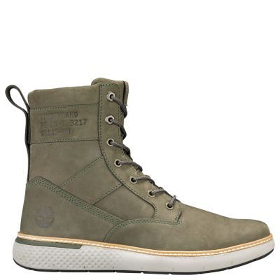 Timberland Men s Cross Mark Utility Boots Dark Green Nubuck ... 7ee586b726a7c