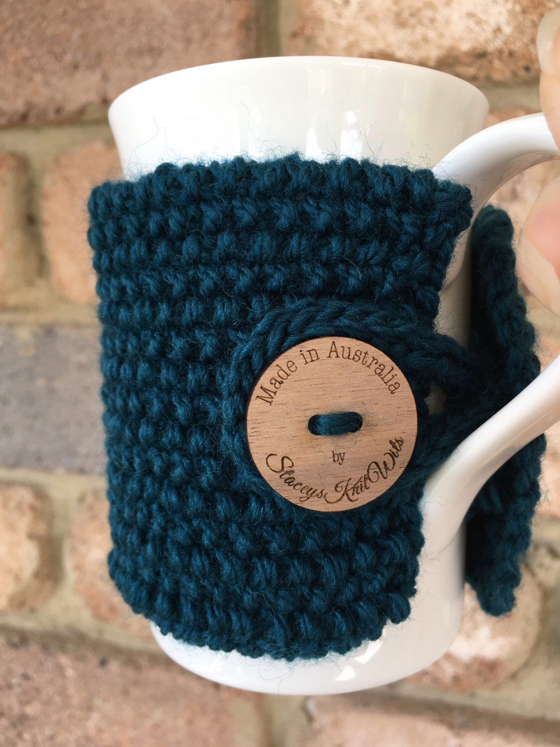 Knitted coffee cozy pattern, cup cosy pattern, tea cozy ...