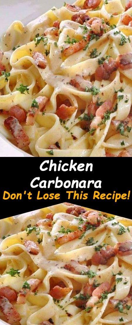 Chicken Carbonara Recipe