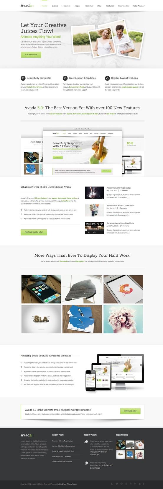 Avada | Responsive Multi-Purpose Theme #wordpress #theme #template ...