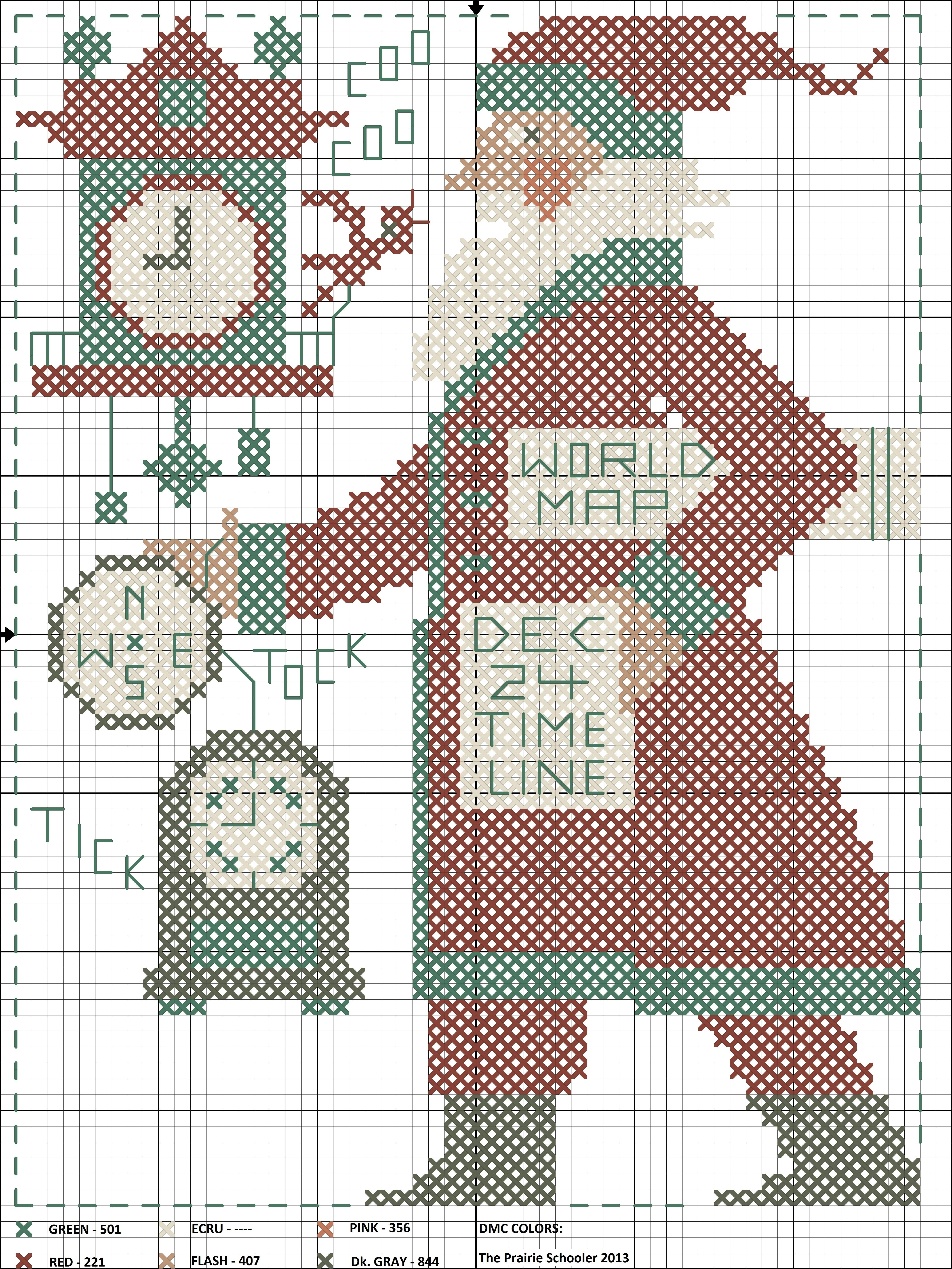 2020 Schooler Cross Stitch Chart