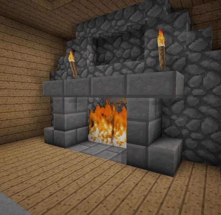 Kitchen Design Ideas Minecraft how to make a fireplace that won't burn your house down in