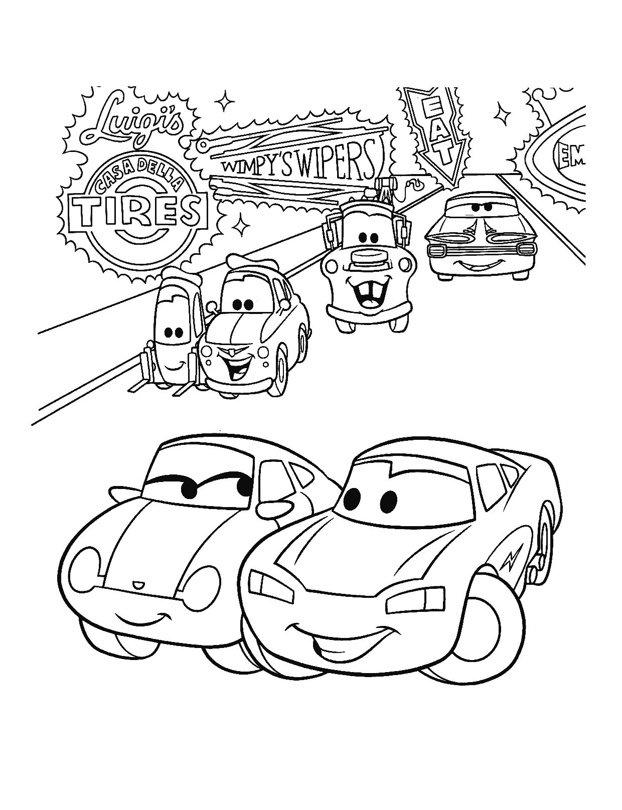 24++ Disney cars coloring pages to print ideas