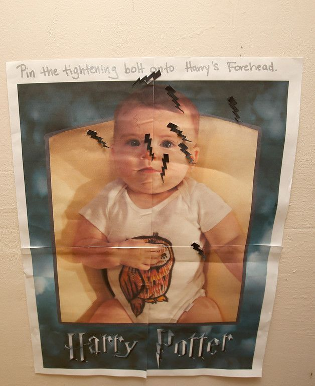 Harry Potter Baby Shower   Pin The Scar On Harry Potter