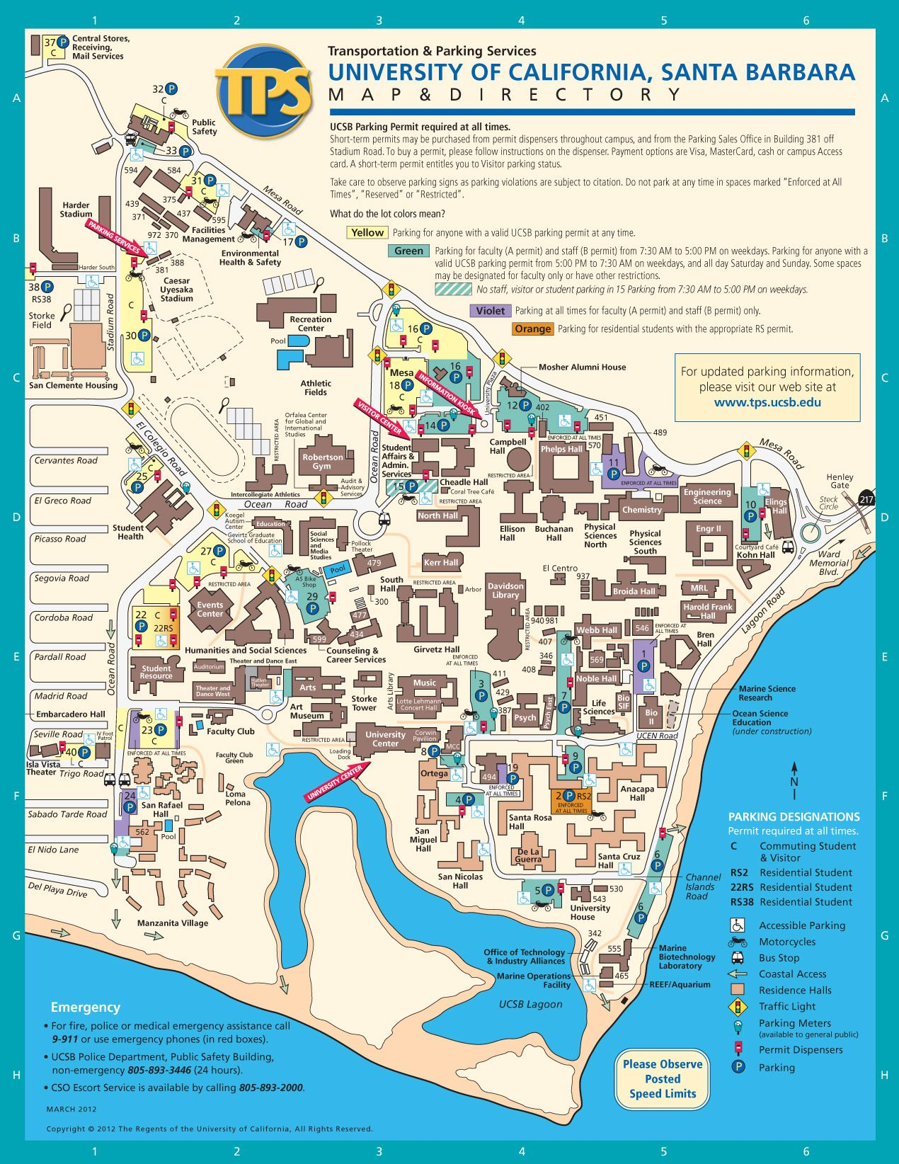UCSB Campus Map, Santa Barbara, California {Bio image internship