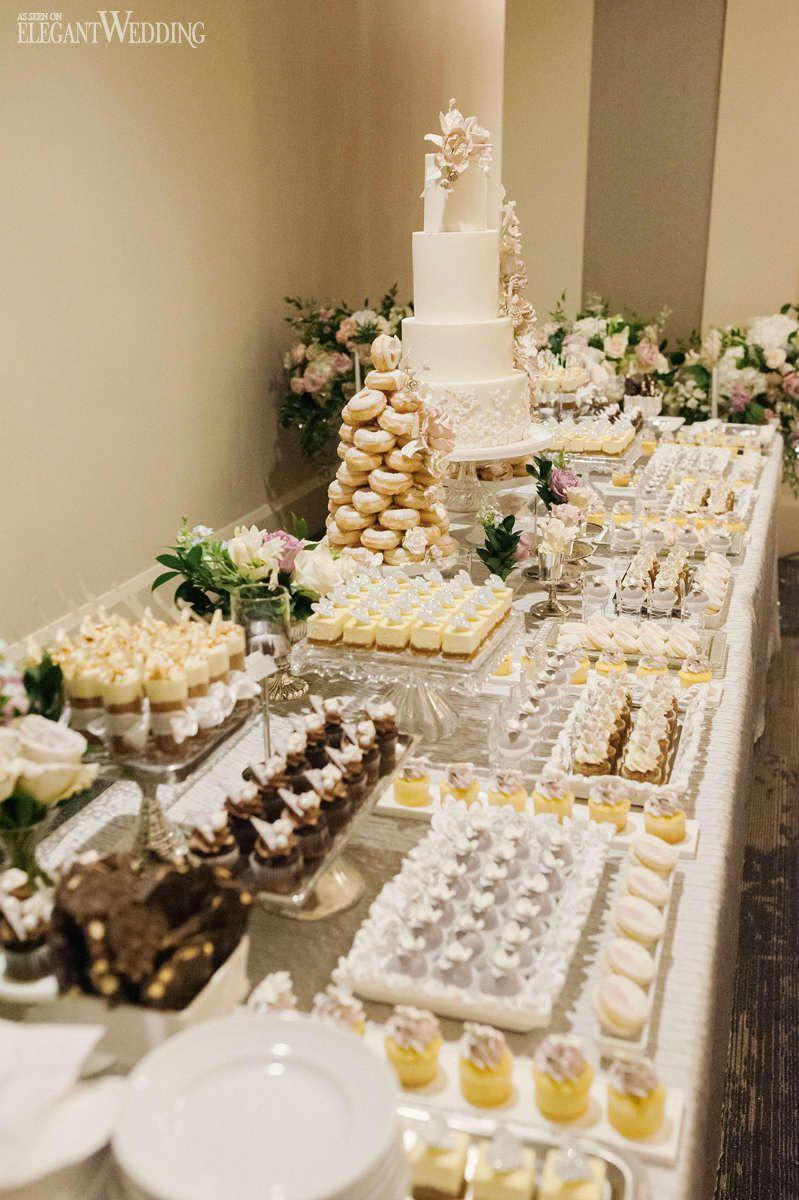 Glamorous Blush Vine Wedding At Arcadian Court Elegantwedding Ca Sweets Table Wedding Wedding Dessert Table Sweet Table Wedding