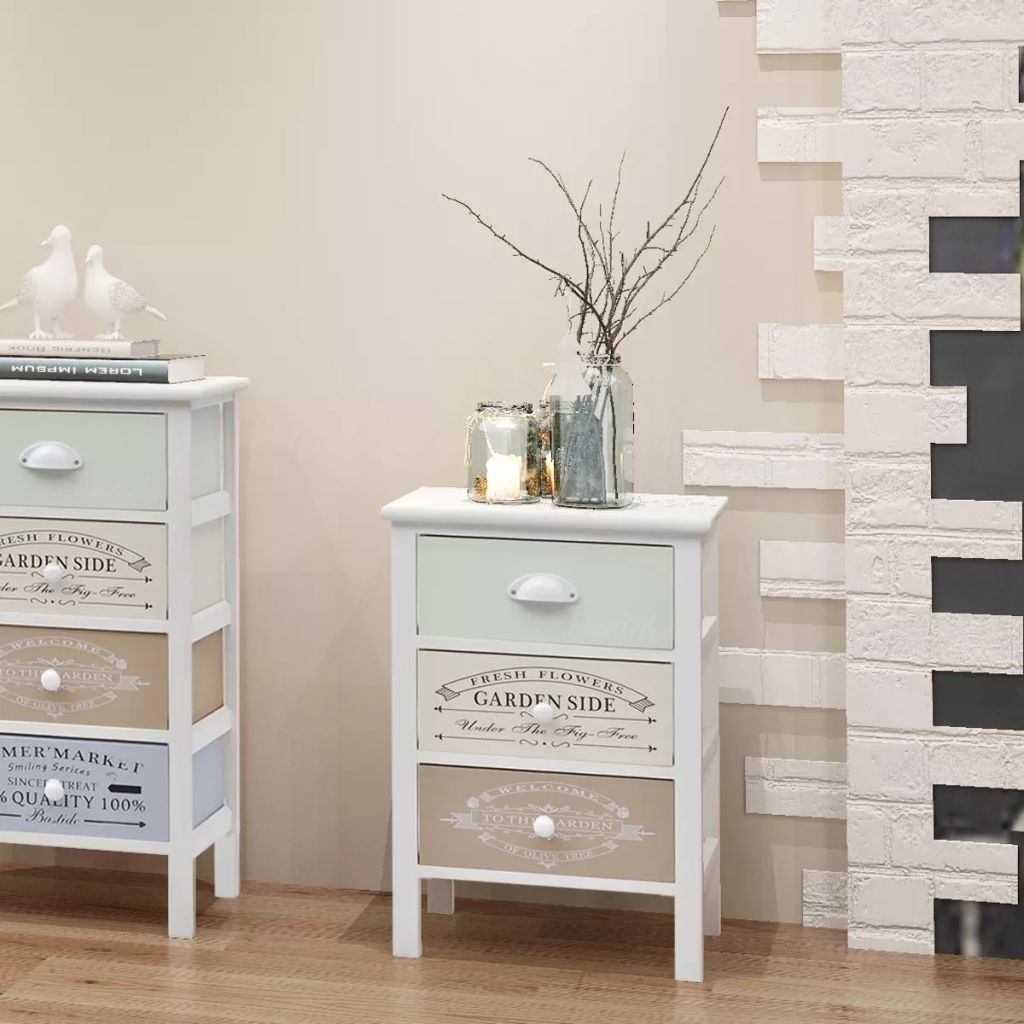 Photo of Shabby Chic French Storage Cabinet with 3 Drawers Wood, This shabby chic …