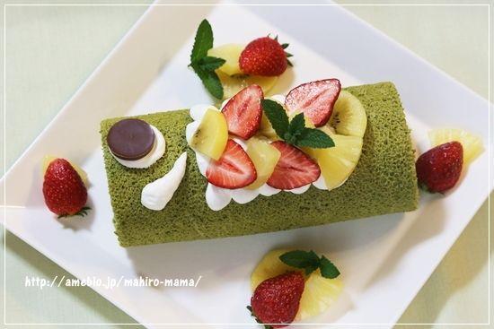 こどもの日*鯉のぼりロールケーキ momoオフィシャルブログ「キミと一緒に ~momo's obentou*キャラ弁~」Powered by Ameba