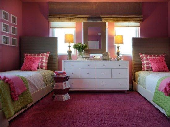 fotos de dormitorios juveniles para dos chicas en varios colores decoracinu