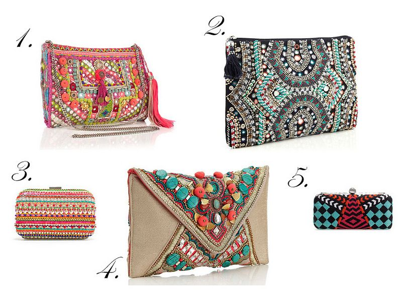 ethnic, boho, bohemian, bags, clutches, clutch, print ...