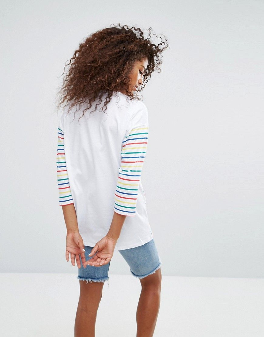 Discount Amazing Price Low Price Fee Shipping For Sale Top in Cutabout Rainbow Stripe - Multi Asos Release Dates Cheap Price Free Shipping Very Cheap Big Discount SuyPwxu