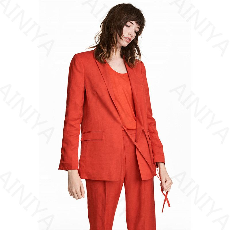 Orange Pantsuit Womens