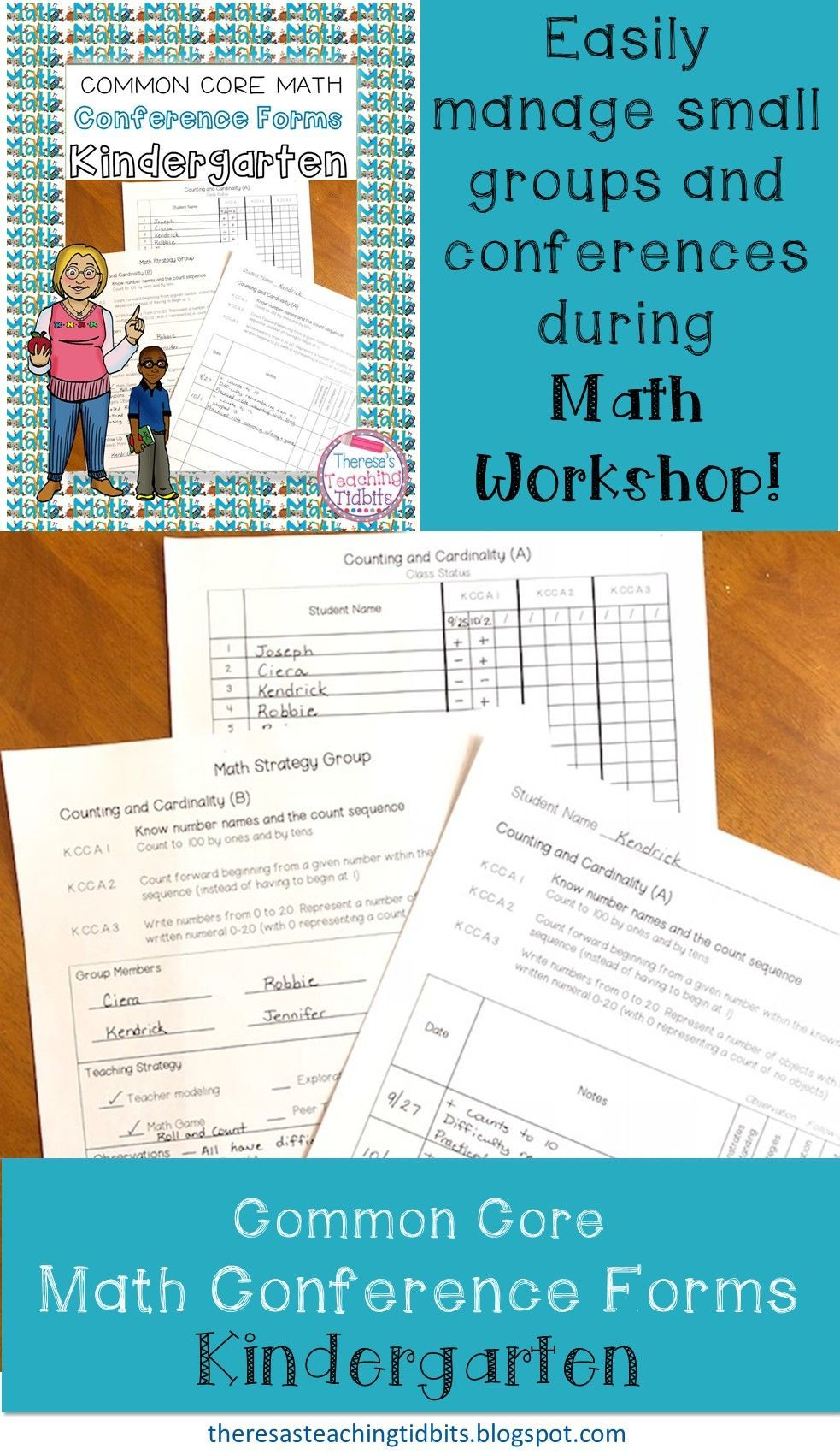 These math conference forms for kindergarten teachers will help you ...