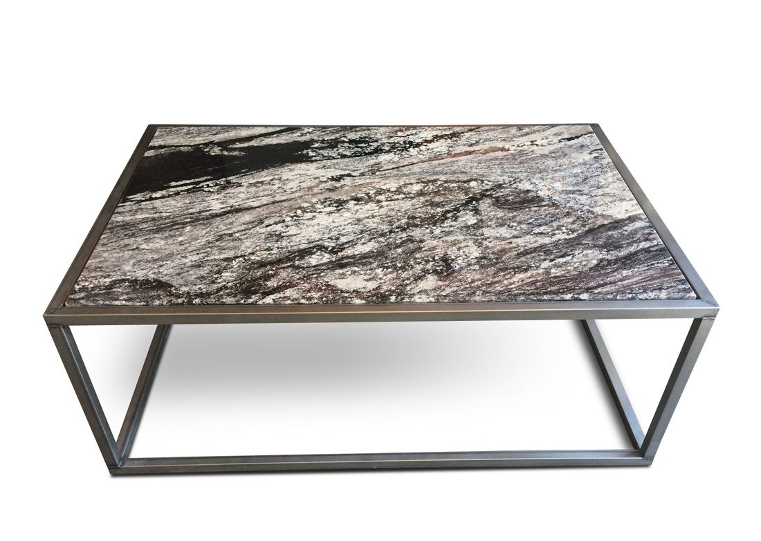 Furniture Elegant And Looking Stunning Coffee Table Using Granite As Top Of
