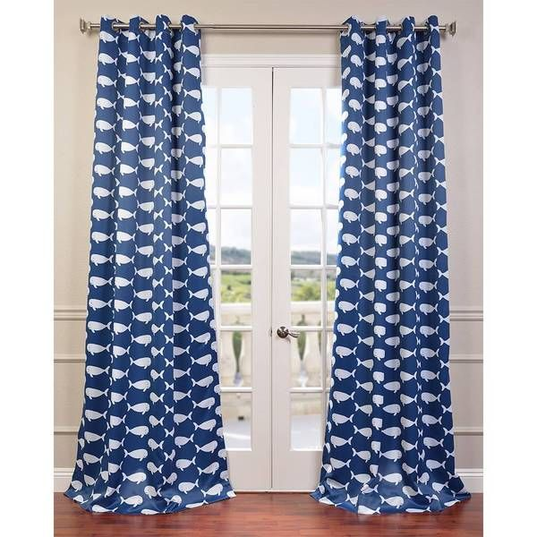 Youu0027ll Be Singing When You Realize How Well This Whale Themed Curtain Panel