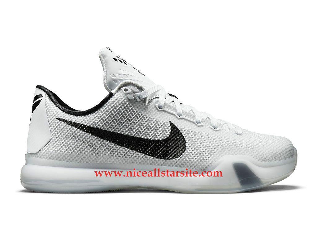 save off e2433 09802 ... canada nike kobe 10 x chaussures de basket pas cher pour homme blanc  noir 705317 100